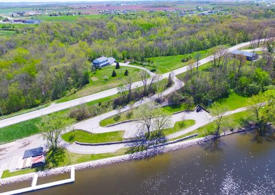 boat launch on the fox river,wrightstown boat launch, aerial photos of wrightstown wi,arial photos of wrightstown wisconsin,drone photography of wrightstown wi