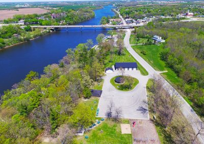 mueller park wrightstown, aerial photos of wrightstown wi,arial photos of wrightstown wisconsin,drone photography of wrightstown wi,wrightstown bridge, fox river,fox valley,municipal photography