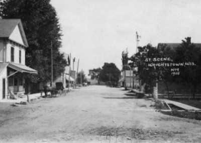 street scene 1908, photography of wrightstown wi, old photos, wrightstown historic photos,official website of the village of wrightstown, the codebook, the book of codes, village of wrightstown codes, history of wrightstown wi, wrightstown historical society